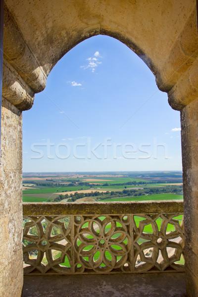 Сток-фото: пейзаж · замок · Готский · окна · Испания · Рио