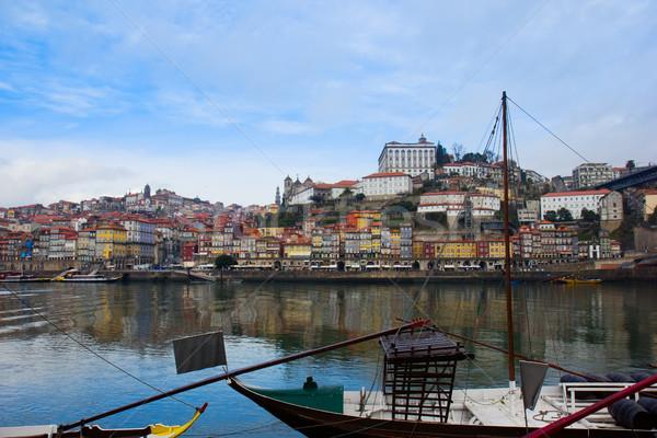 old  Porto on Douro bank, Portugal Stock photo © neirfy