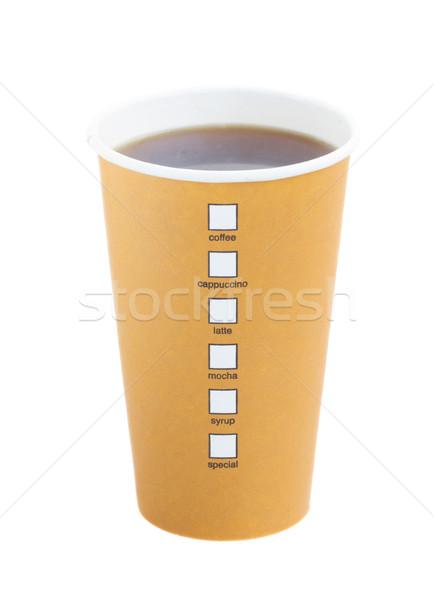 open take away coffee Stock photo © neirfy