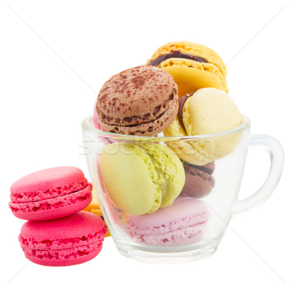 cup  of coloful macaroons Stock photo © neirfy