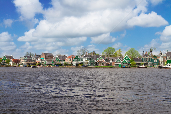 Bord de l'eau holland rural paysages vieille ville Photo stock © neirfy