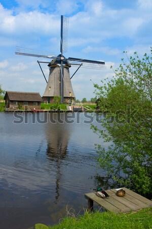 dutch windmill over water Stock photo © neirfy