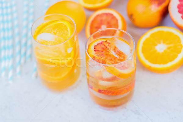 夏 柑橘類 ドリンク ドリンク レモネード ストックフォト © neirfy