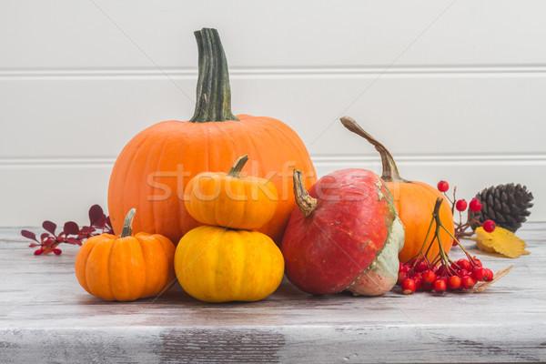 Tablo turuncu hasat kırmızı Stok fotoğraf © neirfy