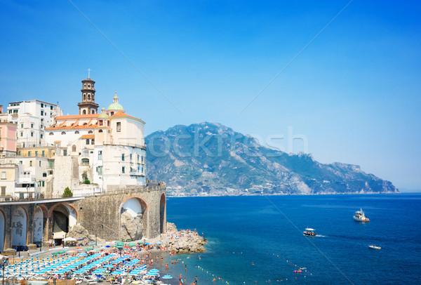 Kust Italië zomer strand zee water Stockfoto © neirfy