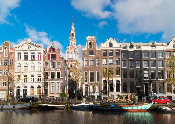 Casas Holanda velho histórico canal água Foto stock © neirfy