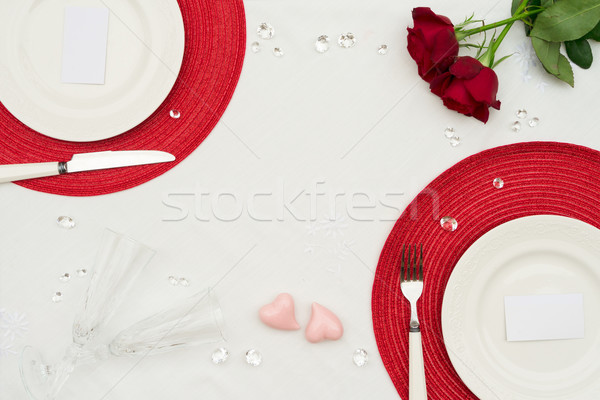 Valentines Day Dinner Stock photo © neirfy