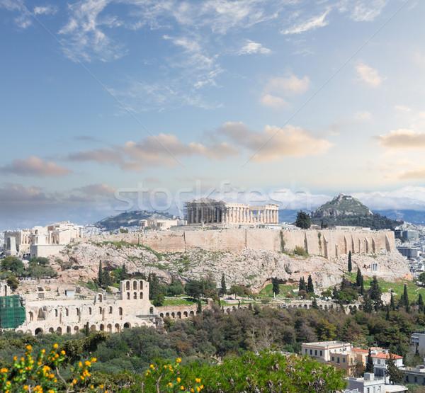 Famous skyline of Athens, Greece Stock photo © neirfy