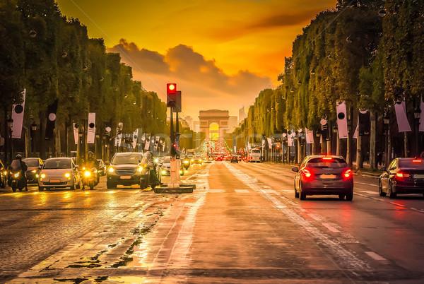 Arc de triomphe, Paris, France Stock photo © neirfy