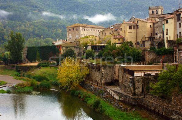 medieval town of Besalu, Catalonia. Spain Stock photo © neirfy