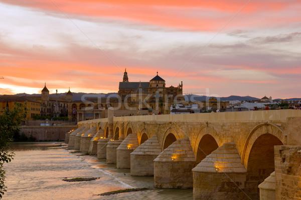 cathedral and roman bridge, Cordoba, Spain Stock photo © neirfy