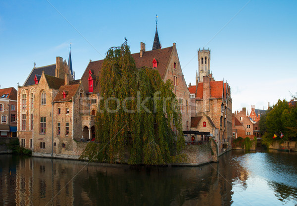 view of old town, Bruges Stock photo © neirfy