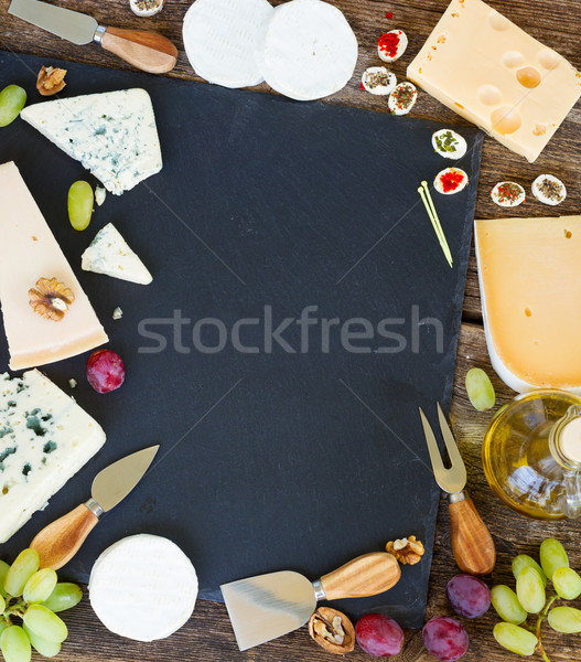 Various types of cheese Stock photo © neirfy