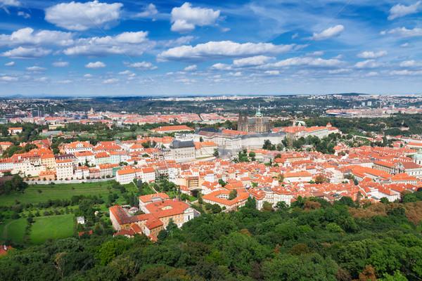 Prag üzerinde ufuk çizgisi Çek Cumhuriyeti gökyüzü Stok fotoğraf © neirfy