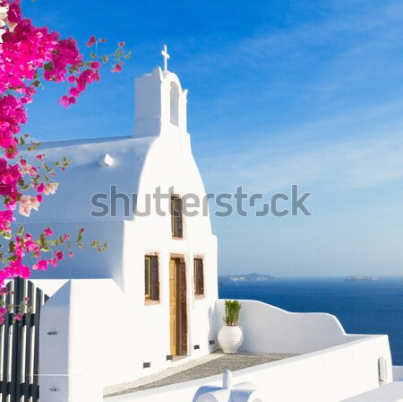 Belo detalhes santorini ilha Grécia vintage Foto stock © neirfy