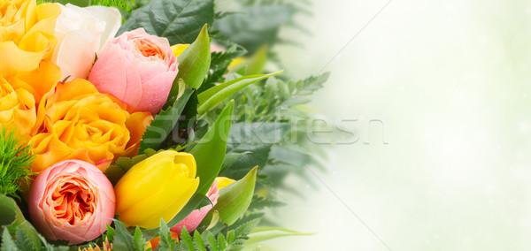 花束 新鮮な 春の花 春 バラ チューリップ ストックフォト © neirfy