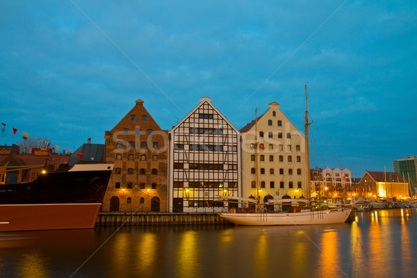 Central Maritime Museum in Gdansk at night Stock photo © neirfy