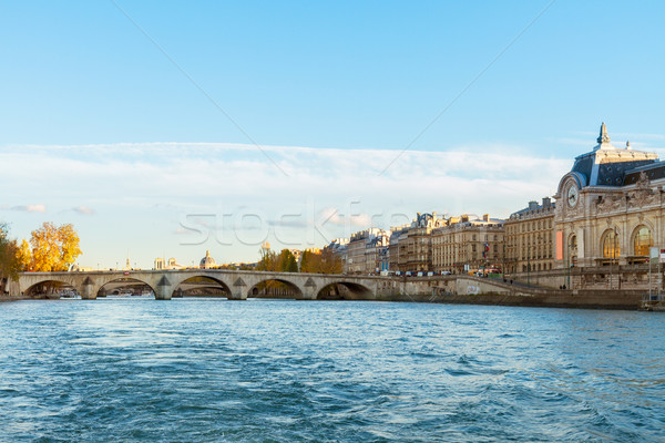 embankment of Seine river, Paris, France Stock photo © neirfy
