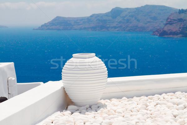 Foto stock: Belo · detalhes · santorini · ilha · Grécia · branco