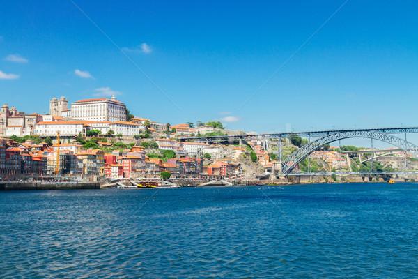 丘 旧市街 ポルトガル 家 青 ストックフォト © neirfy