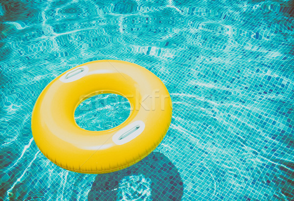 rubber ring in pool Stock photo © neirfy