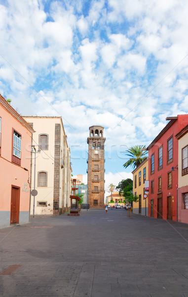La tenerife eiland Spanje straat oude binnenstad Stockfoto © neirfy
