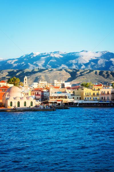 venetian habour of Chania, Crete, Greece Stock photo © neirfy