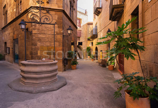 Barcelona peatonal calle tradicional arquitectura Foto stock © neirfy