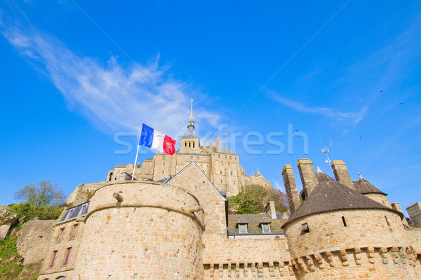 close up of Mont Saint Michel, France Stock photo © neirfy