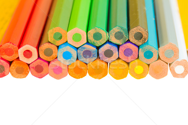 border of  multicoloured pencils Stock photo © neirfy