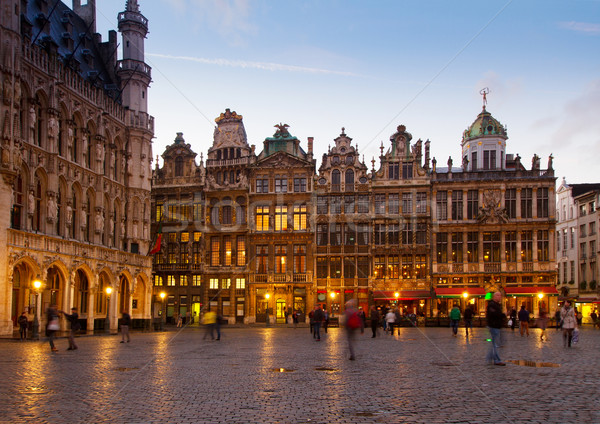 Grote Markt Town Square, Brusseles Stock photo © neirfy