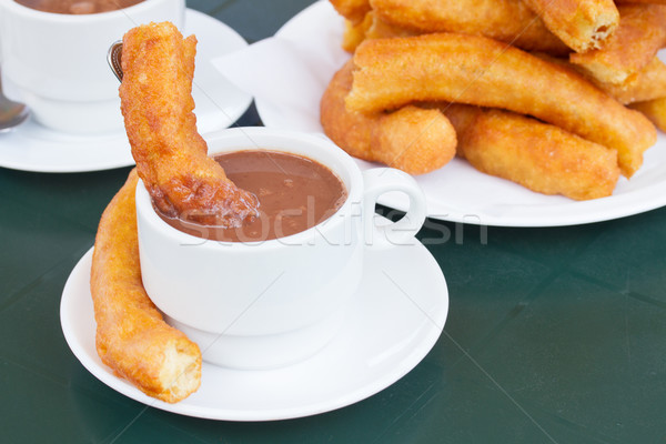 traditional spanish pastry - churros Stock photo © neirfy