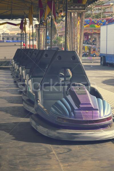 cars in lunapark Stock photo © neirfy