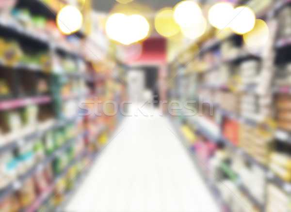 supermarket blured background Stock photo © neirfy