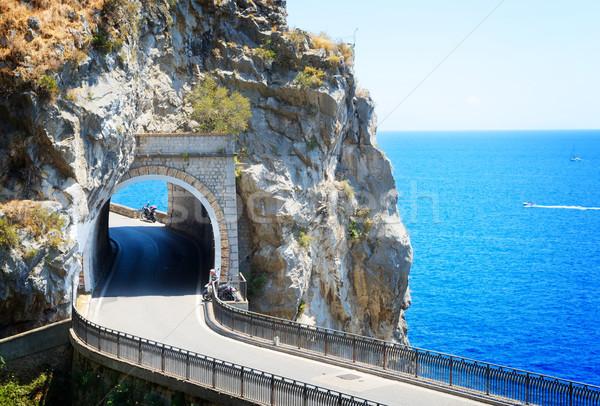 Route côte Italie célèbre pittoresque rétro Photo stock © neirfy