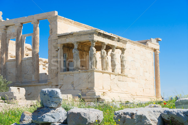 Templo Acrópole Atenas detalhes famoso fachada Foto stock © neirfy