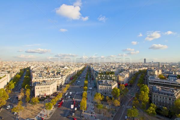 skyline of Paris from place de l'Étoile, France Stock photo © neirfy