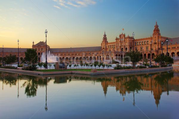 Square of Spain, Sevilla, Spain Stock photo © neirfy