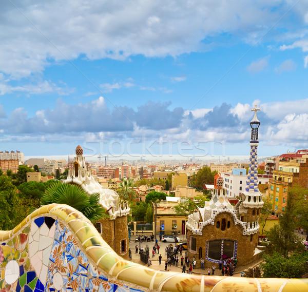 Parque Barcelona Espanha cidade mar arte Foto stock © neirfy