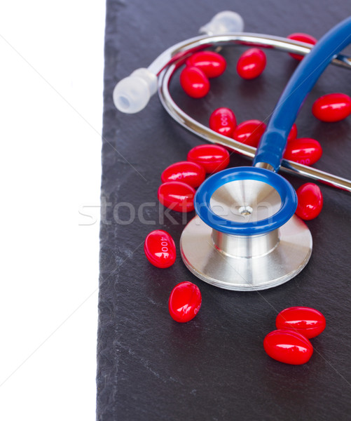 stethoscope with red  pills Stock photo © neirfy