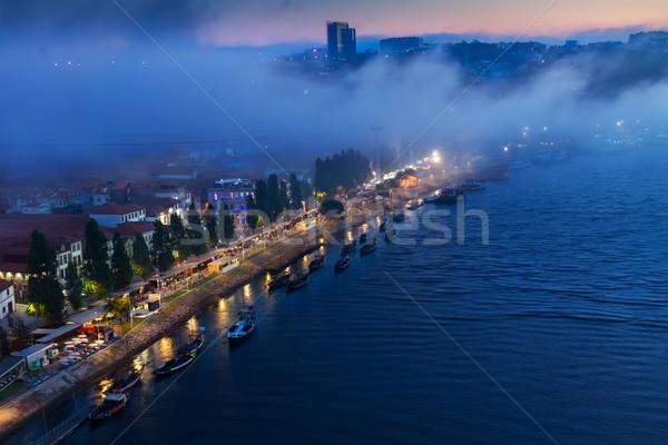 Willi Portugalia starych nowego miasta noc Zdjęcia stock © neirfy