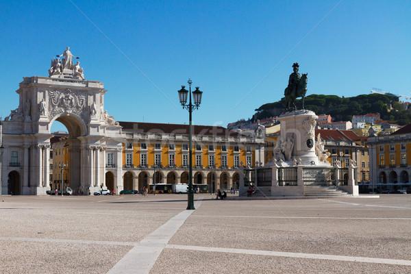 Arco Lisboa Portugal comercio cuadrados soleado Foto stock © neirfy