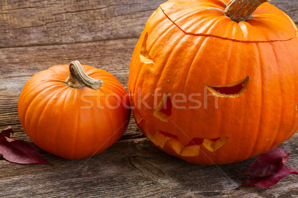 Stock photo: Carved pumpkin