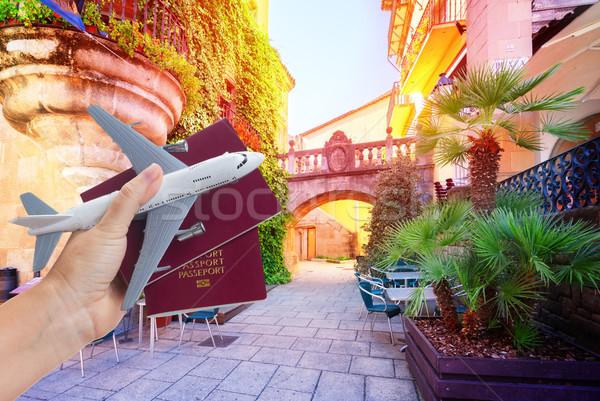 Plane travel concept Stock photo © neirfy