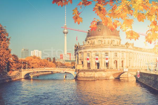 Cityscape Berlin Almanya tv kule müze Stok fotoğraf © neirfy