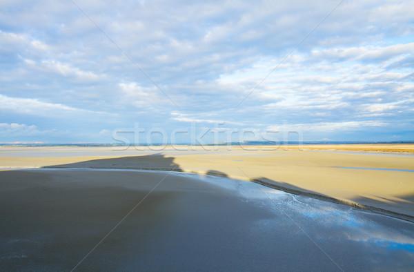 Mont Saint Michel shadow , France Stock photo © neirfy