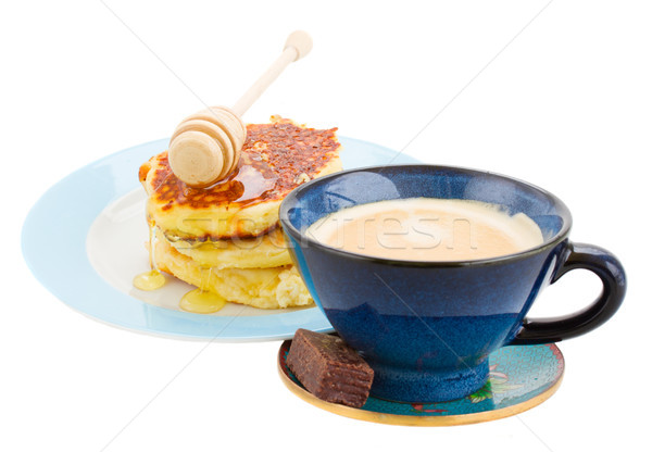 breakfast with pancakes Stock photo © neirfy