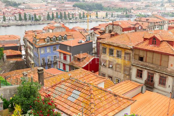 Stock fotó: öreg · házak · történelmi · város · Portugália · színes