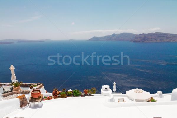 美しい 細部 サントリーニ 島 ギリシャ 海 ストックフォト © neirfy