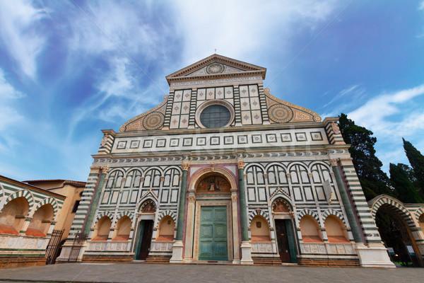 église FLORENCE Italie façade ciel Photo stock © neirfy